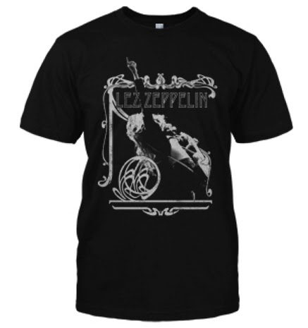 Lez Zeppelin T-Shirt Charcoal - Mens