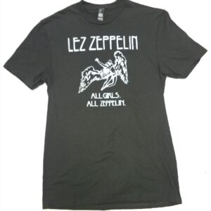 Lez Zeppelin T-Shirt - Classic Mens - Silver on Grey