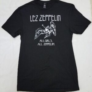 Lez Zeppelin T-Shirt - Classic Womens Silver on Black
